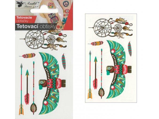 Tetovací obtisky 10,5x6 cm- lapač snů , 1109