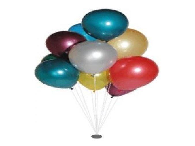 Balónek nafukovací metalíza kulatý