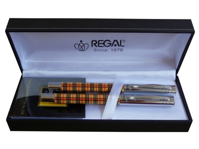 Kuličkové pero + roller Scotish Diagonal, Bluberry