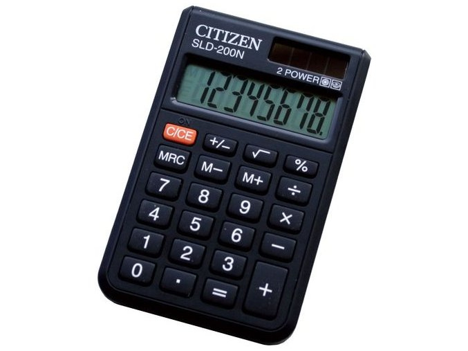 Kalkulačka CITIZEN SLD-200N, kapesní, 8 digit, cover, dual power