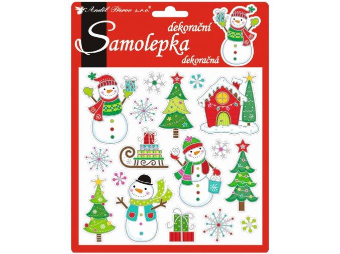 Samolepky veselé vánoční prostorové 10311 , 18x17 cm