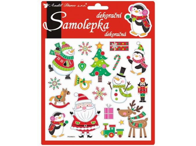 Samolepky veselé vánoční prostorové 10312 , 18x17 cm