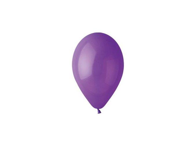 Balónek nafukovací fialový kulatý