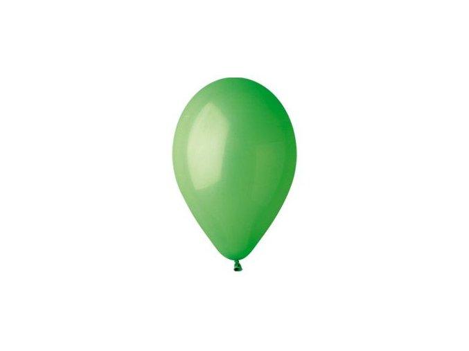 Balónek nafukovací zelený kulatý