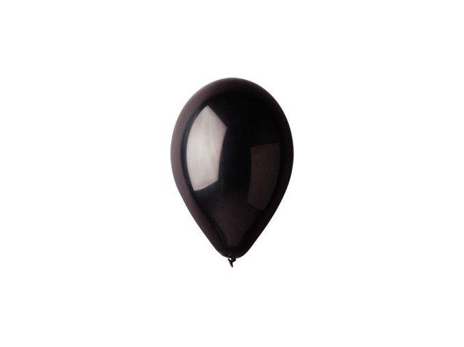 Balónek nafukovací černý kulatý