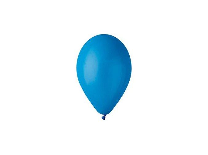 Balónek nafukovací pastelový modrý kulatý