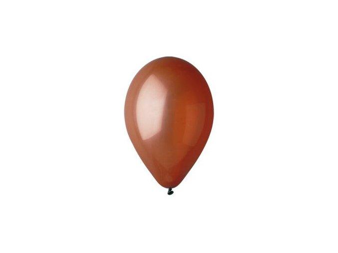 Balónek nafukovací hnědý kulatý