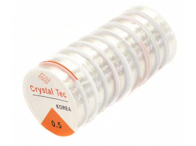 Nylon vlasec - transparentní - 0,50 mm x 15 m - 10 ks