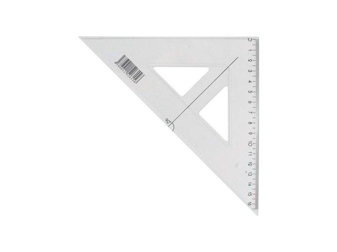Pravítko trojúhelník s ryskou JUNIOR 16 cm