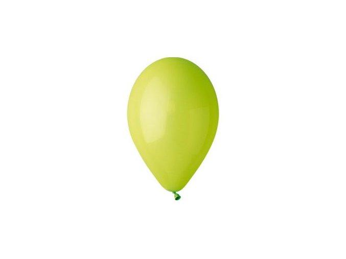 Balónek nafukovací sv. zelený kulatý