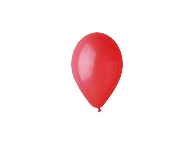 Balónek nafukovací tm. červená