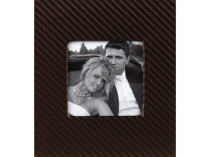 Obal na CD double Wedding 3 hnědý