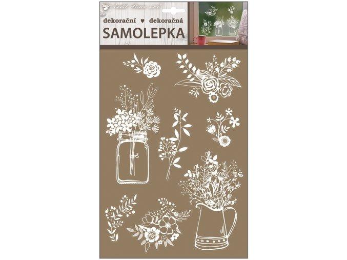 Samolepicí dekorace bílé 30 x 21 cm , 10240