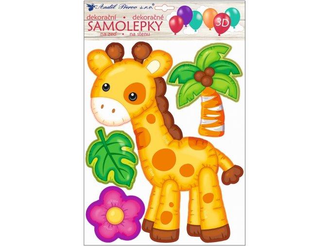Samolepka na zeď 3D balónková žirafa 35 x 27 cm , 10271