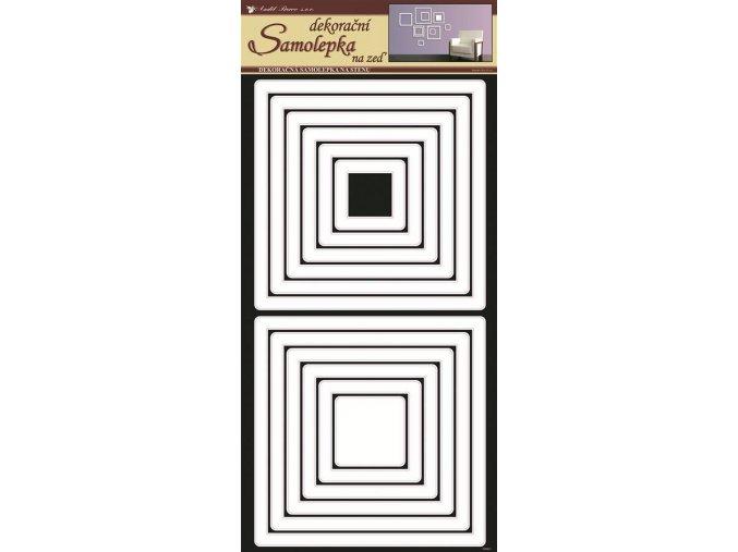 Samolepky na zeď čtverce bílé 1332, 69x32cm