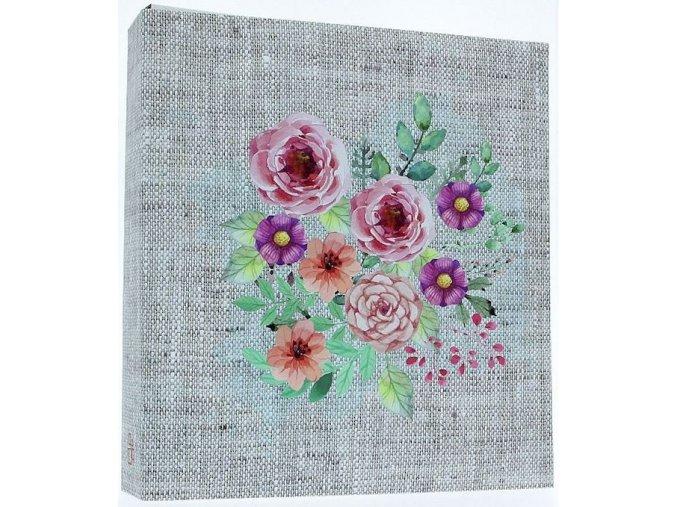 Fotoalbum samolepící DRS-50 Flax růžové květy