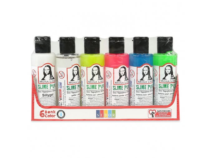 Lepidlo Slime PVA Glue Mona Lisa set 5+1 aktivátor x 70 ml