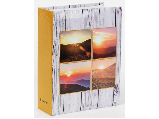 Fotoalbum 9x13/200foto MM-35200 Wood 1 šedé