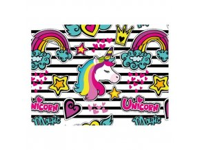 Obal PP s patentkou A4, Magic Unicorn