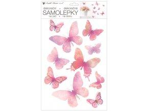 Samolepka na zeď motýli 24 x 42 cm 10456