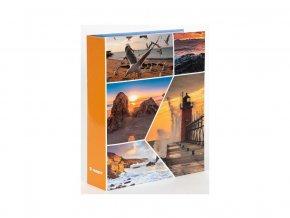 Fotoalbum 10x15/200foto B-46200 Waves 1 oranžové