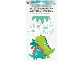 Lampička samolepicí svítící LED dinosaur 19 cm 10544