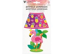 Lampička samolepicí svítící LED plameňák 27 cm 10549