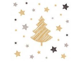Papírová ubrousky vánoční, třívrstvé 33 x 33 cm, 20 ks 13017