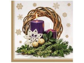 Papírová ubrousky vánoční, třívrstvé 33 x 33 cm, 20 ks 13018