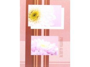 Fotoalbum 9x13/100foto Flowers 3 fialový