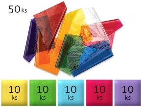 Sáčky 50ks celofán 15x25cm barevné 35mic