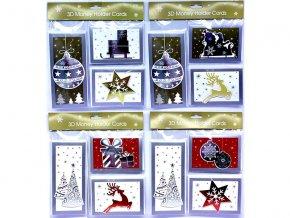 Obálky vánoční 3ks/sada