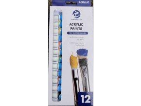 Akrylové barvy 12 x 12 ml