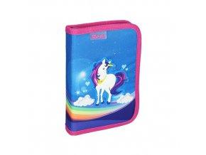 Penál 1-patrový / 2 klopy plný, 3D Unicorn