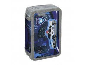 Penál 3-patrový / plný, 3D Police