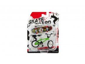 Skateboard prstový s kolem plast 10cm asst mix druhů