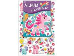 Album na samolepky hologram 40 samolepek 16x29 cm, pro holčičky 15050