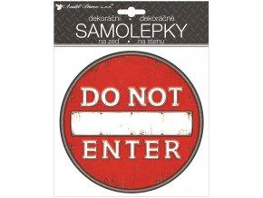 Samolepicí plastická cedulka Do Not Enter 18 x 23 cm 15062