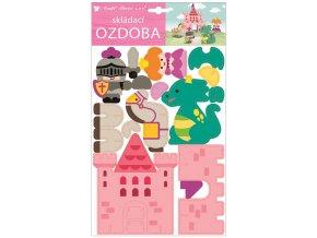 Skládací papírový pohádkový hrad 21 x 36,5 cm 10496