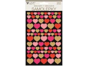 Samolepky srdce 14 x 25 cm 2 archy 15046