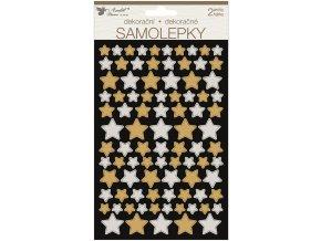 Samolepky hvězdy 14 x 25 cm 2 archy 15047