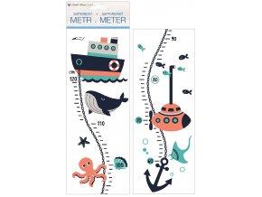 Samolepky na zeď dětský metr - námořní, do 120 cm 10294