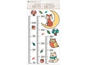 Samolepky na zeď dětský metr - lesní zvířátka, do 160 cm 10298