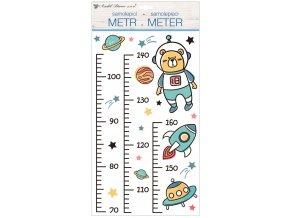 Samolepky na zeď dětský metr - vesmír, do 160 cm 10296