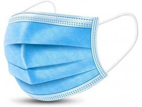 Rouška jednorázová modrá univerzální 50 ks
