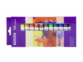 Akrylové barvy sada 12ks - 12ml. PK54-1