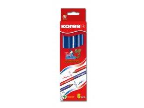 Učitelská tužka Kores Jumbo Twin červená-modrá