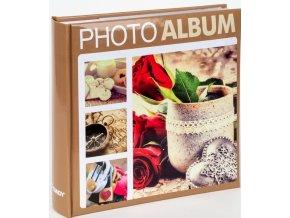 Fotoalbum 10x15/200foto KD-46200 Terracotta 1 béžové