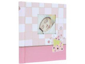 Fotoalbum samolepící DRS-30 Baby checker růžové