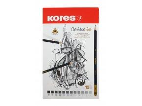 Trojhranné obyčejné tužky 12ks Grafitos set Kores